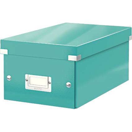 LEITZ DVD-Ablagebox Click & Store WOW, eisblau
