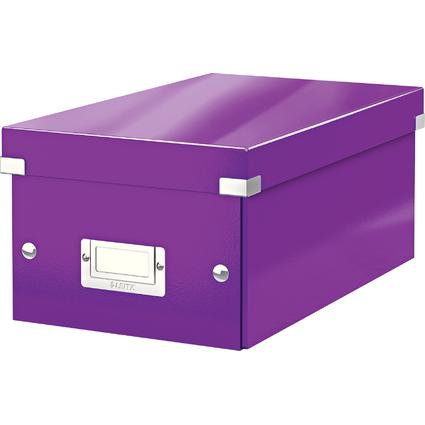 LEITZ DVD-Ablagebox Click & Store WOW, violett