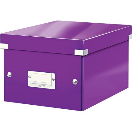 LEITZ Ablagebox Click & Store WOW, DIN A5, violett