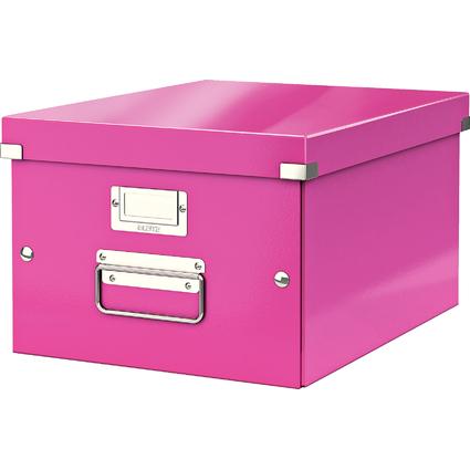 LEITZ Ablagebox Click & Store WOW, DIN A4, pink