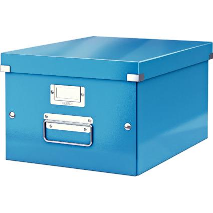 LEITZ Ablagebox Click & Store WOW, DIN A4, blau
