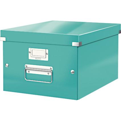 LEITZ Ablagebox Click & Store WOW, DIN A4, eisblau