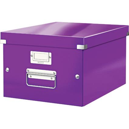LEITZ Ablagebox Click & Store WOW, DIN A4, violett