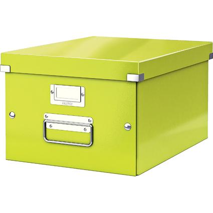 LEITZ Ablagebox Click & Store WOW, DIN A4, grün