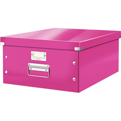 LEITZ Ablagebox Click & Store WOW, DIN A3, pink
