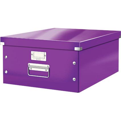 LEITZ Ablagebox Click & Store WOW, DIN A3, violett