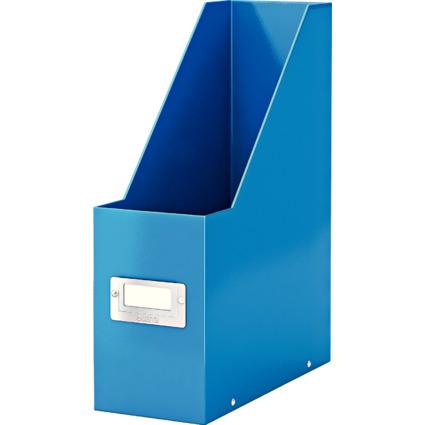 LEITZ Stehsammler Click & Store WOW, A4, Hartpappe, blau