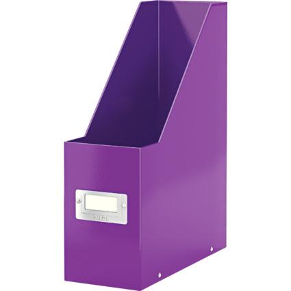 LEITZ Stehsammler Click & Store WOW, A4, Hartpappe, violett