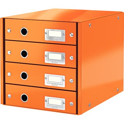 LEITZ Schubladenbox Click & Store WOW, 4 Schübe, orange