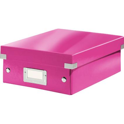 LEITZ Organisationsbox Click & Store WOW, klein, pink