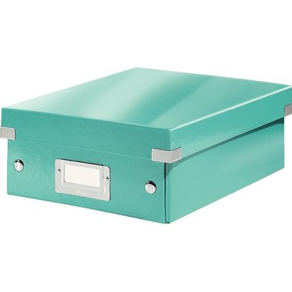 LEITZ Organisationsbox Click & Store WOW, klein, eisblau