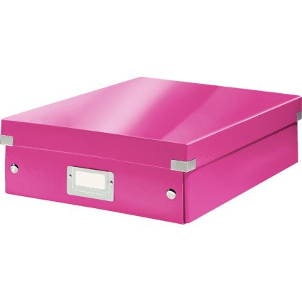 LEITZ Organisationsbox Click & Store WOW, groß, pink