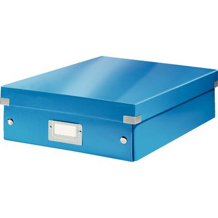 LEITZ Organisationsbox Click & Store WOW, groß, blau