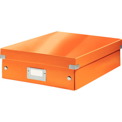 LEITZ Organisationsbox Click & Store WOW, groß, orange