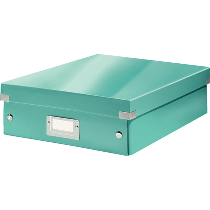 LEITZ Organisationsbox Click & Store WOW, groß, eisblau