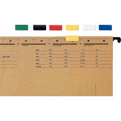 LEITZ Signalreiter, (B)24 x (H)10 mm, schwarz
