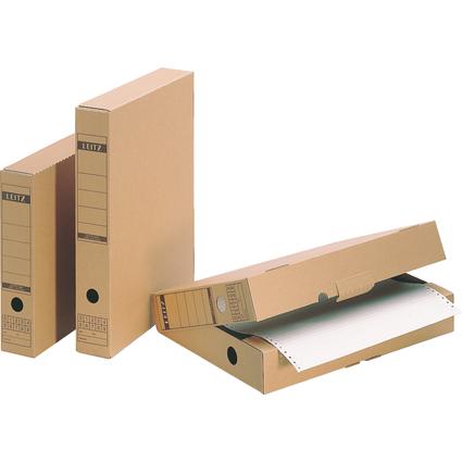 LEITZ Archiv-Schachtel, mit Verschlusslasche, A4, Wellpappe