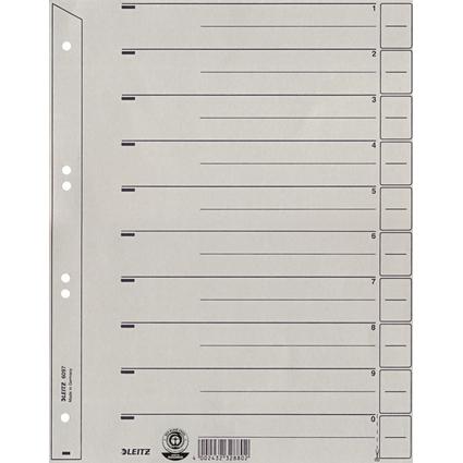 LEITZ Trennblätter, A4, Kraftkarton 200 g/qm, grau