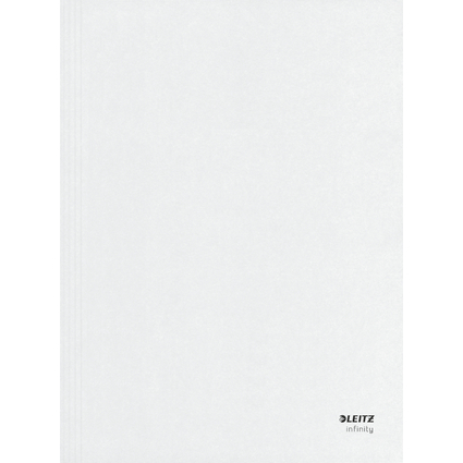 LEITZ Aktendeckel Infinity, DIN A4, säurefreier Karton, weiß