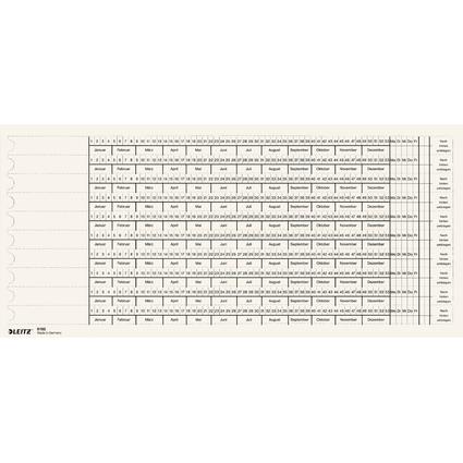 LEITZ Organisations-Streifen, Skala 3 / Skala 4, weiß