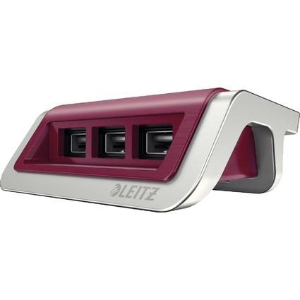 LEITZ Power-Ladegerät Style für Mobilgeräte, granat-rot