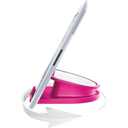 LEITZ Tablet-PC-Ständer WOW Complete, drehbar, pink-metallic