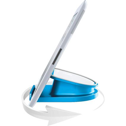 LEITZ Tablet-PC-Ständer WOW Complete, drehbar, blau-metallic