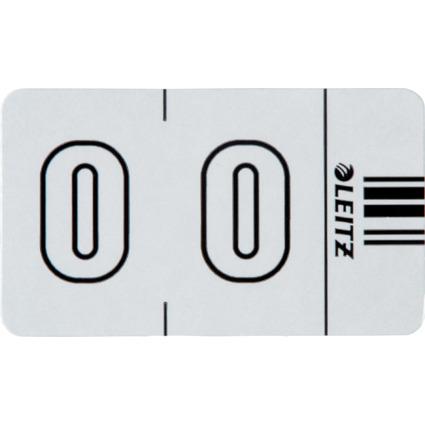 """LEITZ Ziffernsignal Orgacolor """"0"""", auf Streifen, weiß"""