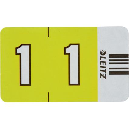 """LEITZ Ziffernsignal Orgacolor """"1"""", auf Streifen, gelb"""