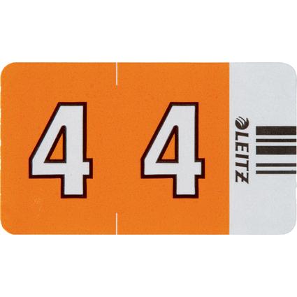 """LEITZ Ziffernsignal Orgacolor """"4"""", auf Streifen, orange"""