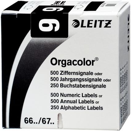 """LEITZ Ziffernsignal Orgacolor """"9"""", auf Rolle, schwarz"""