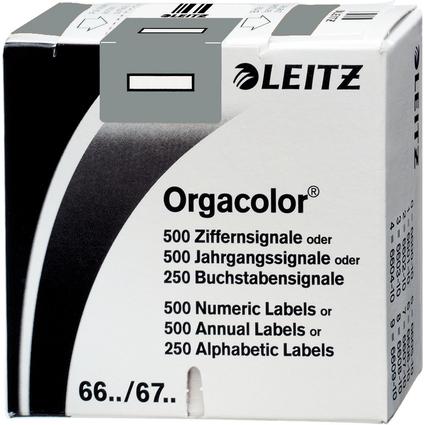 "LEITZ Buchstabensignal Orgacolor ""I"", auf Rolle, grau"