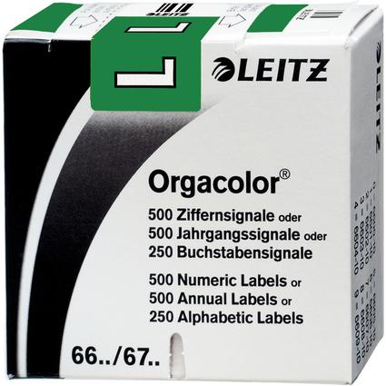 """LEITZ Buchstabensignal Orgacolor """"L"""", auf Rolle, dunkelgrün"""
