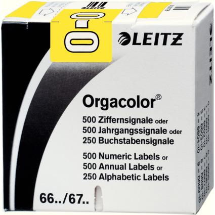 "LEITZ Buchstabensignal Orgacolor ""O"", auf Rolle, gelb"