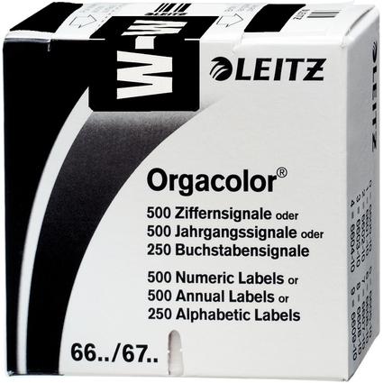 """LEITZ Buchstabensignal Orgacolor """"W"""", auf Rolle, schwarz"""