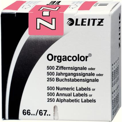 """LEITZ Buchstabensignal Orgacolor """"Z"""", auf Rolle, rosa"""