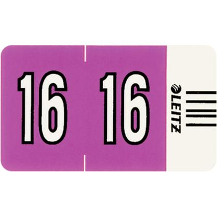 """LEITZ Jahressignal Orgacolor """"16"""", auf Streifen, violett"""