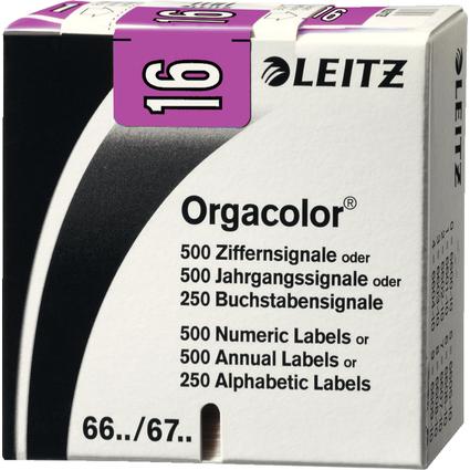 """LEITZ Jahressignal Orgacolor """"16"""", auf Rolle, violett"""