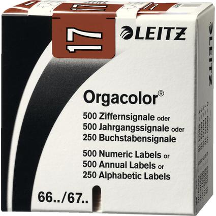 """LEITZ Jahressignal Orgacolor """"17"""", auf Rolle, braun"""