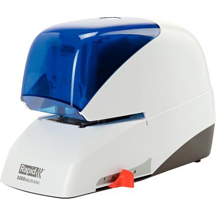 Rapid Elektro-Heftgerät Supreme 5050e, weiß/blau