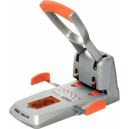 Rapid Registraturlocher Supreme HDC150/2, silber/orange