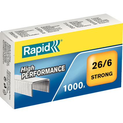 Rapid Heftklammern Strong 26/6, verzinkt