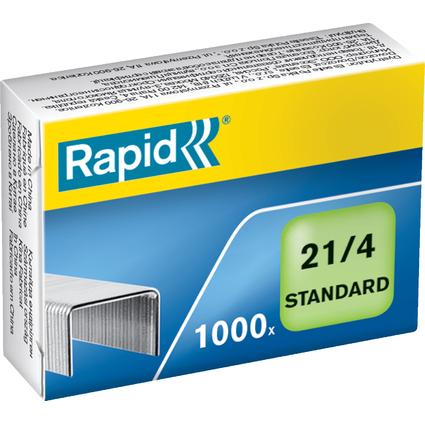 Rapid Heftklammern Standard 21/4, verzinkt