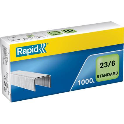 Rapid Heftklammern Standard 23/6, galvanisiert
