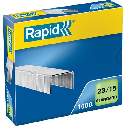 Rapid Heftklammern Standard 23/15, galvanisiert