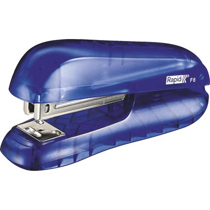 Rapid Heftgerät F6, Heftleistung: 20 Blatt, blau-transparent