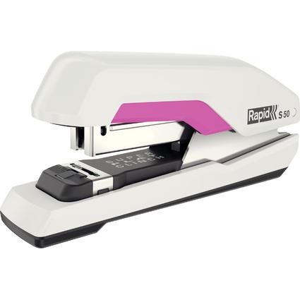 Rapid Flachheftgerät Supreme S50, weiß/pink