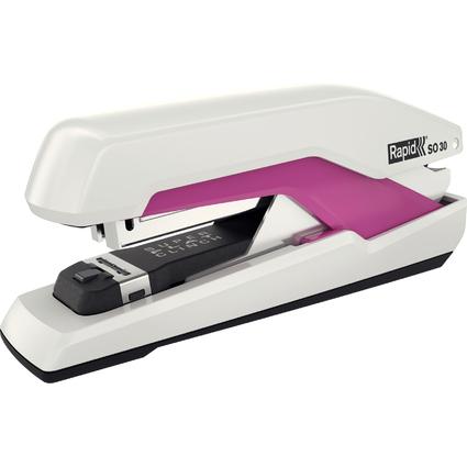 Rapid Flachheftgerät Omnipress SO30, weiß/pink