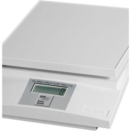 MAULtec Elektronische Briefwaage, Tragkraft: 2 kg, weiß