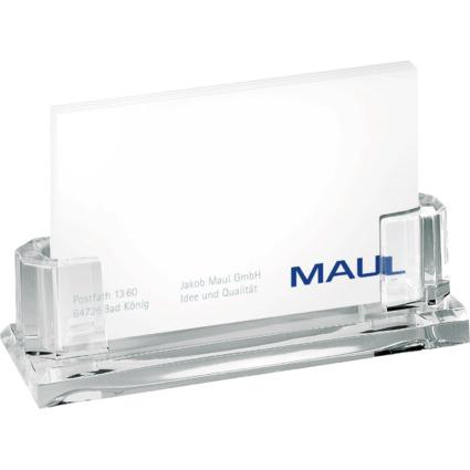 MAUL Visitenkartenständer Acryl für ca. 35 Karten, glasklar